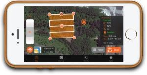 Aplicativo SkyDrones em iPhone