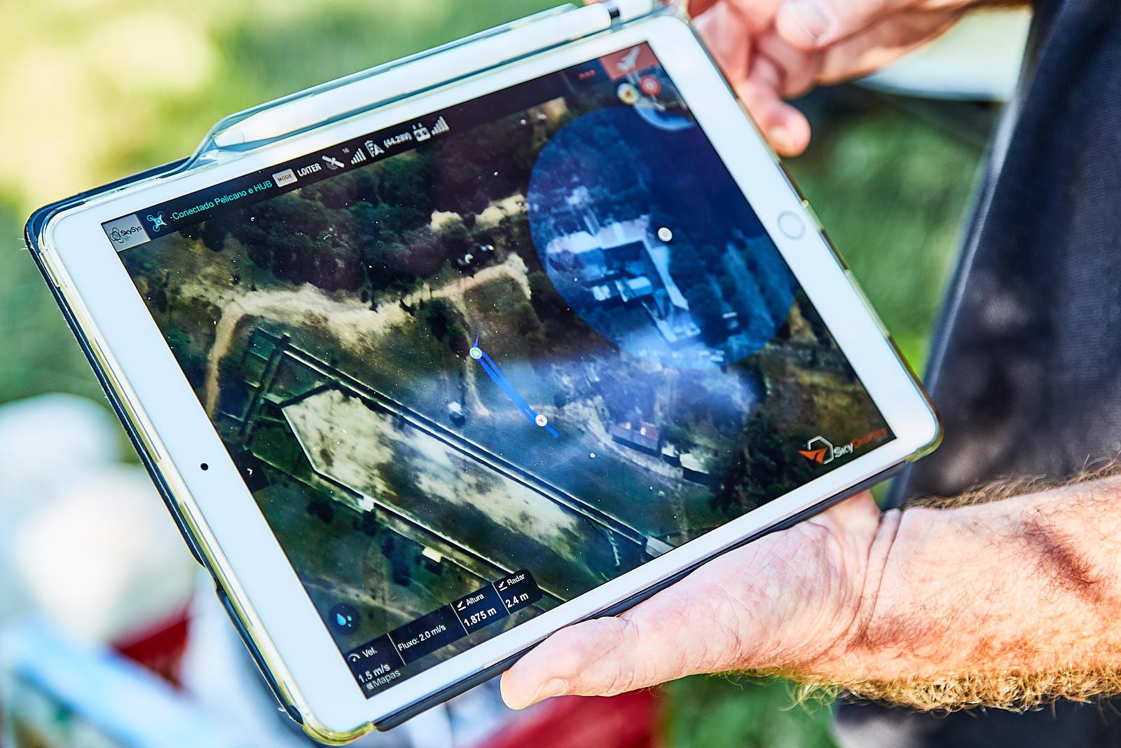 Controle e histórico de missão em app