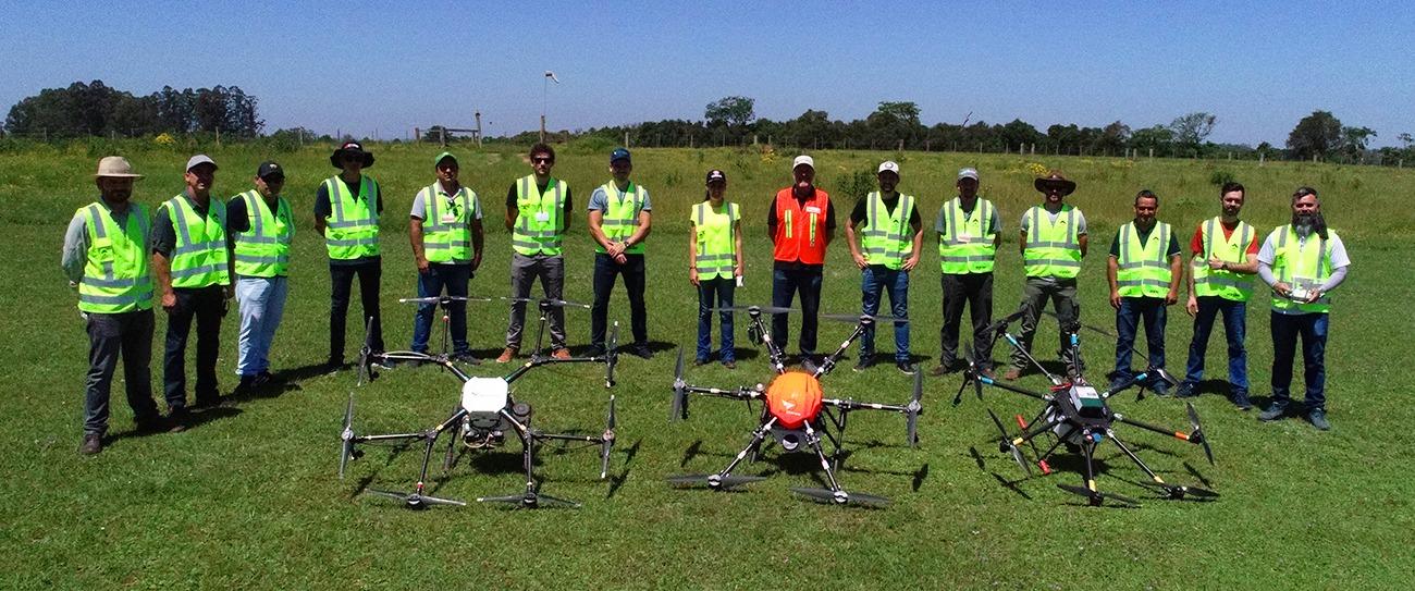 Curso de Piloto de Drone de Pulverização