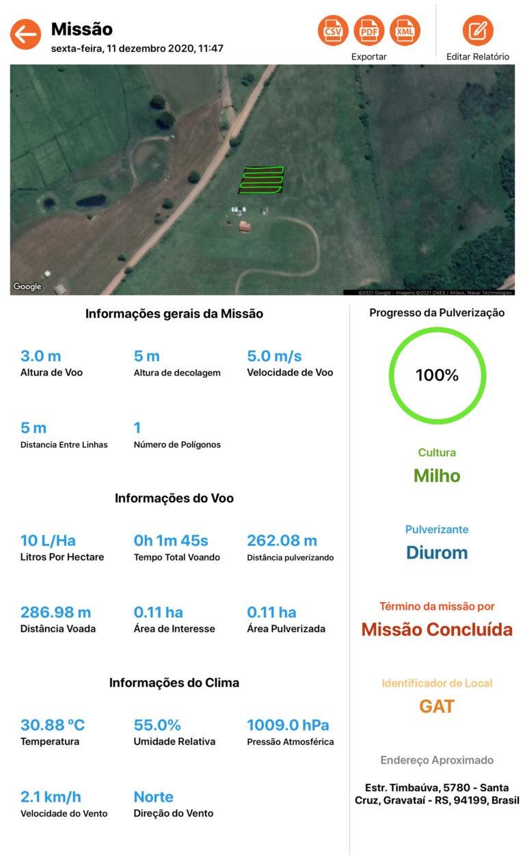 Relatório: Equipamentos da SkyDrones já geram dados em plataforma compatível com o sistema do Mapa