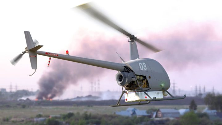 Versão drone do Robinson R-22 foi concebida inicialmente para missões humanitárias - Foto: Uavos